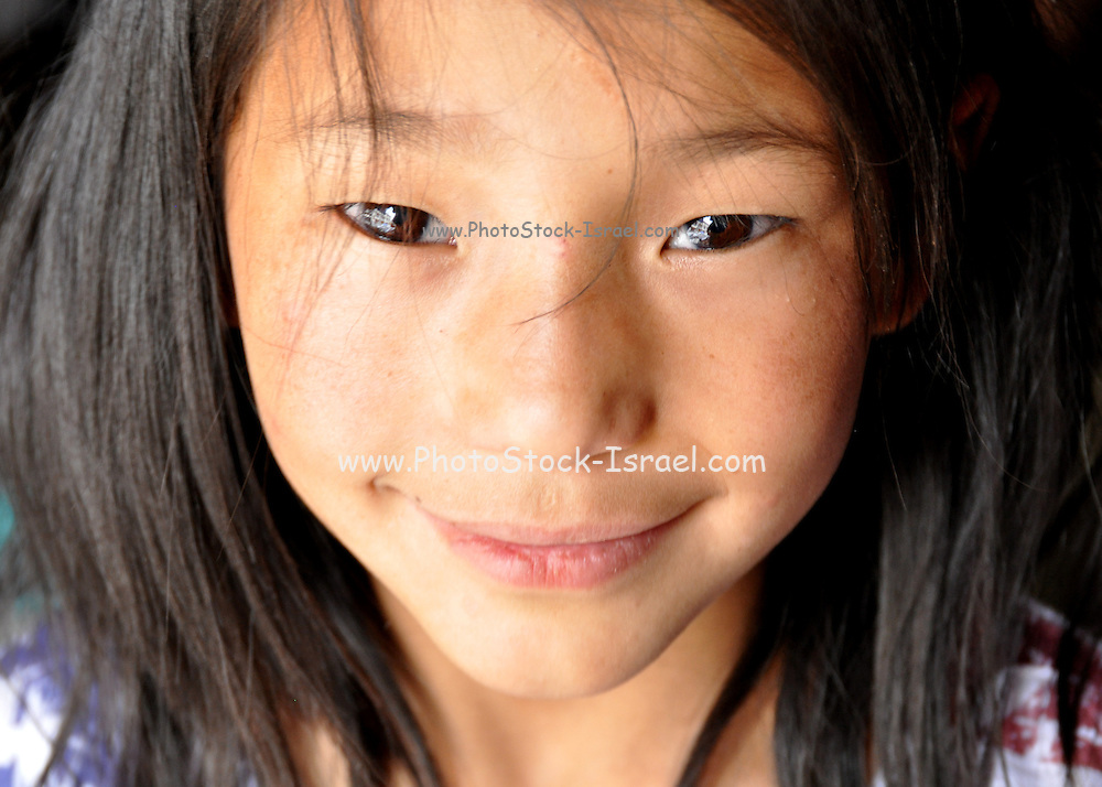 Portrait of a young Indian girl Photographed in Ladakh, Jammu and Kashmir, India