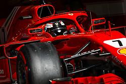 April 7, 2018 - Sakhir, Bahrain - RAIKKONEN Kimi (fin), Scuderia Ferrari action during 2018 Formula 1 FIA world championship, Bahrain Grand Prix, at Sakhir from April 5 to 8  I  Motorsports: FIA Formula One World Championship 2018, Grand Prix of Bahrain,#7 Kimi Raikkonen (FIN, Scuderia Ferrari) (Credit Image: © Hoch Zwei via ZUMA Wire)