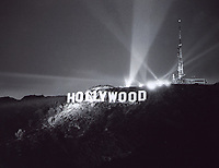 November 11, 1978 Dedication of the newly constructed Hollywood Sign at night