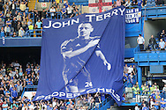 Giant banner of John Terry, the Chelsea captain being passed along the stands after full time. Barclays Premier league match, Chelsea v Leicester city at Stamford Bridge in London on Sunday 15th May 2016.<br /> pic by John Patrick Fletcher, Andrew Orchard sports photography.