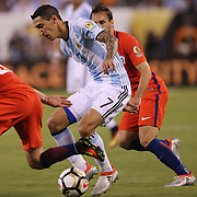 EAST RUTHERFORD, NEW JERSEY - JUNE 26:  Angel Di Maria #7 of Argentina in action during the Argentina Vs Chile Final match of the Copa America Centenario USA 2016 Tournament at MetLife Stadium on June 26, 2016 in East Rutherford, New Jersey. (Photo by Tim Clayton/Corbis via Getty Images)