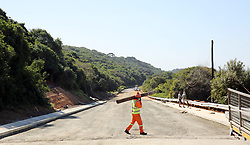 South Africa - Durban - 27 May 2020 - The construction firm Devru Construction company appointed to repair the M4 Highway whic colapsed last year is hard at work to complete repairs by the June deadline. UMhlanga ward councillor Nicole Bollman said construction firm Devru Construction was doing phenomenal work.<br /> Picture: Motshwari Mofokeng/African News Agency(ANA)