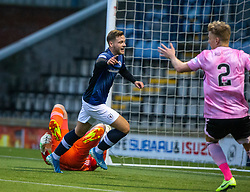 Raith Rovers James Gullen cele scoring their second goal. Half time : Raith Rovers 2 v 1 Peterhead, Scottish Football League Division One played 4/1/2020 at Stark's Park, Kirkcaldy.