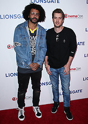 LAS VEGAS, NV, USA - APRIL 26: CinemaCon 2018 - Lionsgate Presentation held at The Colosseum at Caesars Palace during CinemaCon, the official convention of the National Association of Theatre Owners on April 26, 2018 in Las Vegas, Nevada, United States. 26 Apr 2018 Pictured: Daveed Diggs, Rafael Casal. Photo credit: Xavier Collin/Image Press Agency / MEGA TheMegaAgency.com +1 888 505 6342