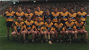 Clare-All-Ireland Hurling Champions 1997. Back Row: Brian Lohan, Michael O'Halloran, Colin Lynch, Frank Lohan, Davy Fitzgerald, Conor Clancy, Fergal Hegarty, Gerald O'Loughlin, Seanie McMahon. Front Row: Liam Doyle, Ollie Baker, Anthony Daly (capt), Jamsie O'Connor, P J O'Connell, Fergus Tuohy, Niall Gilligan.