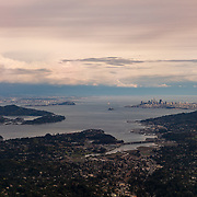 San Francisco Bay View From Mount Tamalpais - Dusk