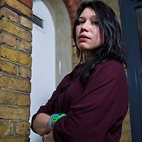 Francesca Beard - British performance poet and writer. The woman behind 'Chinese Whispers' and 'Animal Olympics'  pictured at Bookslam event at Tabernacle , London on 28th Febuary 2012<br /> <br /> Picture Nick Cunard/Writer Pictures<br /> <br /> WORLD RIGHTS