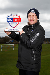 Sky Bet Football League 2 Manager of the Month Darrell Clarke of Bristol Rovers poses with his award - Mandatory byline: Rogan Thomson/JMP - 07/04/2016 - FOOTBALL - The Lawns Training Ground - Bristol, England - Sky Bet Football League Awards.