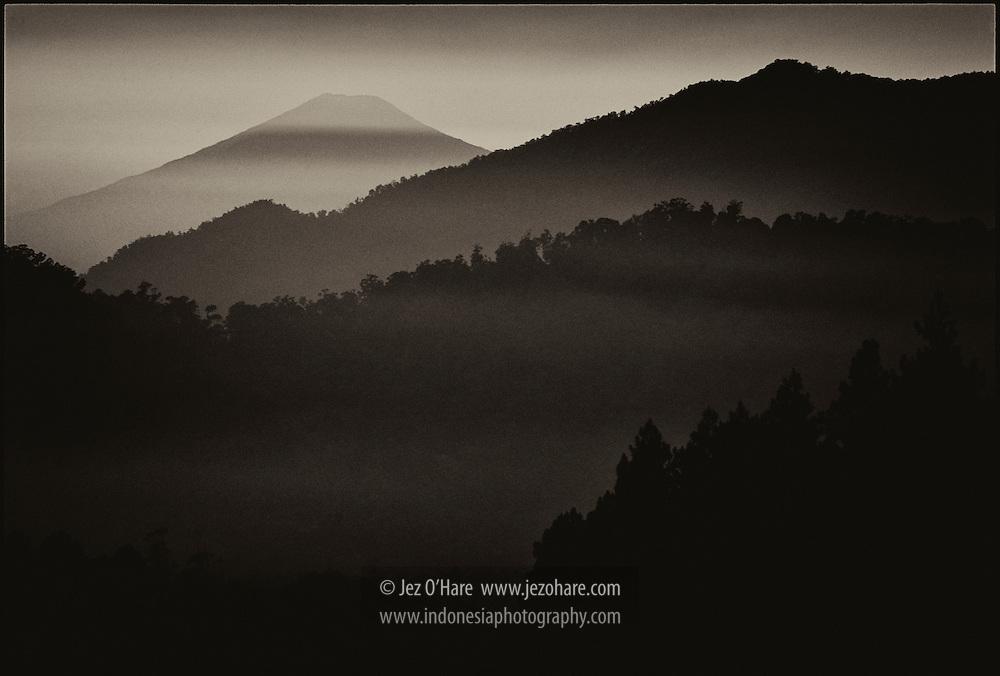 Mt. Ceremay seen from Mt. Tangkuban Perahu, Jawa Barat, Indonesia