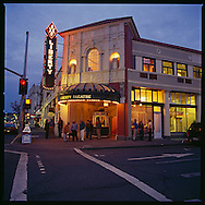 The newly restored Liberty Theater in downtown Astoria, Oregon