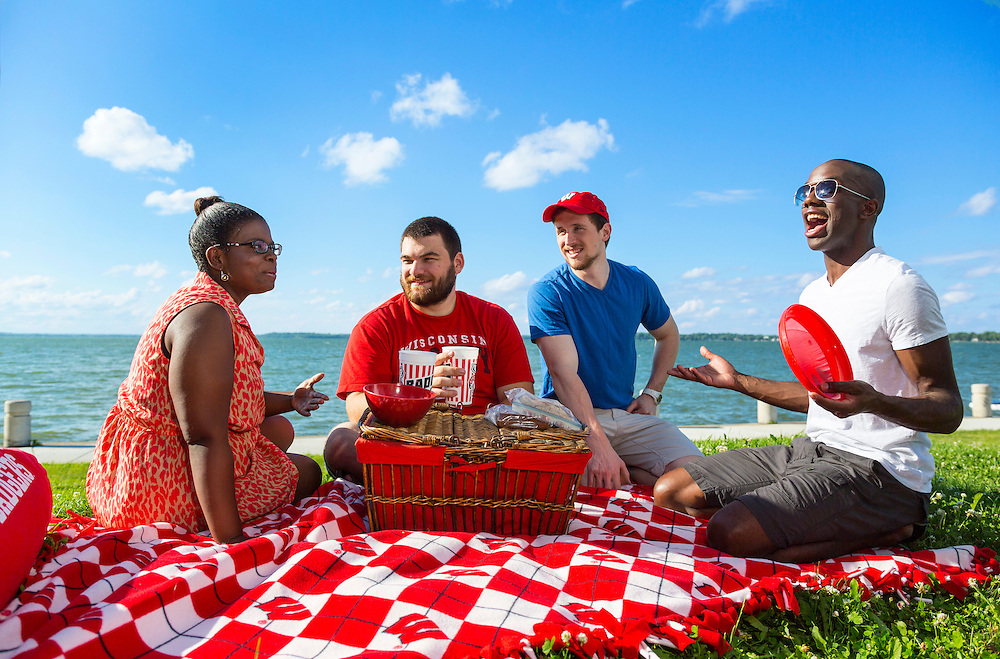 University of Wisconsin-Madison students on picnic at James Madison Park July 1, 2014, in Madison, Wis. (Photo @ Andy Manis)