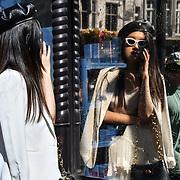 Fashionista attend London Fashion Week SS20 at 180 Strand on 13 September 2019, London, UK.