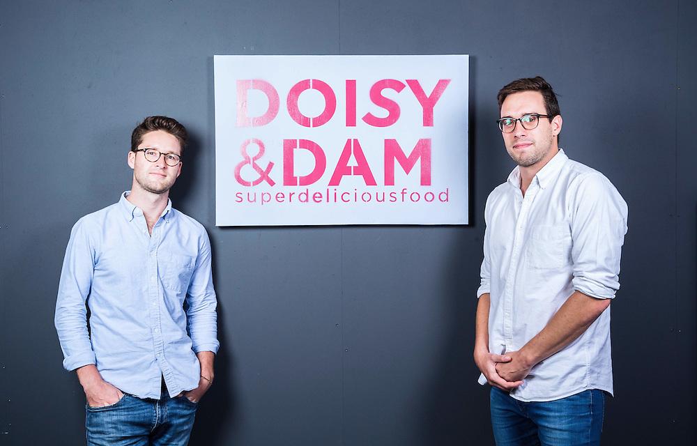 Ed Smith(LEFT) and Richard Wilkinson<br /> Founders of chocolate bars business Doisy & Dam on August 14.  2015.<br /> <br /> Photos Ki Price