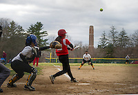 St Paul's School varsity Softball versus Tilton School.  ©2015 Karen Bobotas Photographer