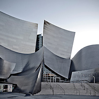 Walt Disney Concert Hall - Frank Gehry Partners, in downtown Los Angeles,  California, photography by Wayne Cable.