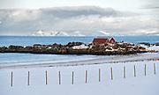 Skjaanesodden at Gimsöya, Lofoten, Norway in February 2013.