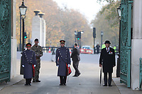 Remembrance Sunday at the Royal artillery war memorial at Hyde Park Corner photo by Roger Alarcon