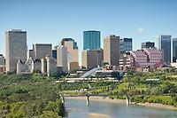 Edmonton city skyline overlooking the North Saskatchewan River
