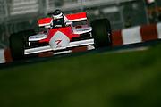 Historic Grand Prix at Circuit Gilles Villeneuve. John Watson's 1984 Mclaren