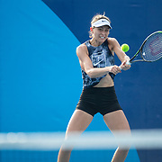 TOKYO, JAPAN - JULY 20: Paula Badosa Gibert of Spain practicing at Ariake Tennis Park in preparation for the Tokyo 2020 Olympic Games on July 20, 2021 in Tokyo, Japan. (Photo by Tim Clayton/Corbis via Getty Images)
