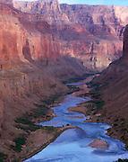 Downstream view from the Nankoweap Granaries, Colorado River mile 53, Grand Canyon National Park, Arizona, USA; 4 May 2008; Pentax 67II, 200 mm lens, polarizer, Velvia 100