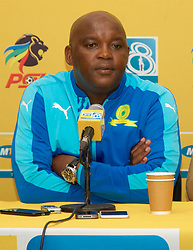 Pitso Mosimane, Head Coach, of Mamelodi Sundowns during the 1st leg of the MTN8 Semi Final between Chippa United and Mamelodi Sundowns held at the Nelson Mandela Bay Stadium in Port Elizabeth, South Africa on the 11th September 2016<br /><br />Photo by: Richard Huggard / Real Time Images