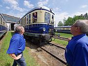 Strasshof, Austria.<br /> Triebwagentage (railcar days) at Das Heizhaus - Eisenbahnmuseum Strasshof, Lower Austria's newly designated competence center for railway museum activities.<br /> BBÖ VT 42/ÖBB 5042 diesel electric railcar, built 1935-36, running until 1989.