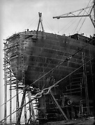 Hull and Scaffolding, Cunard Lines, England, 1934