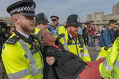 Extinction Rebellion protest on Waterloo Bridge, London, 18 April 2019