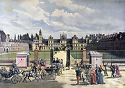Marie Francois Sadi Carnot (1837-1894), President of France 1887-1894, being cheered on his arrival at the Palace of Fontaibleau. Assassinated in 1894. From 'Le Petit Journal', Paris, 6 August 1892.