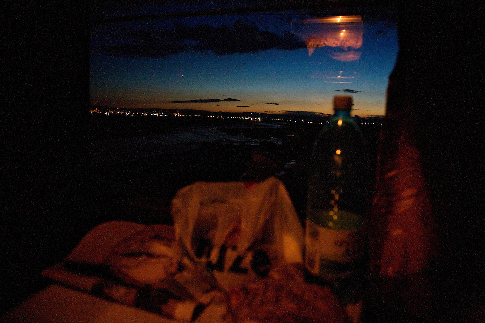 On an overnight train from Bucharest, Romania to Chisinau, Moldova.