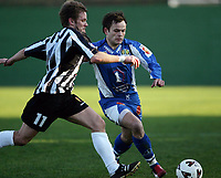 Fotball<br /> La Manga 2006<br /> Tromsø v KR Reykjavik<br /> 13.02.2006<br /> Foto: Morten Olsen, Digitalsport<br /> <br /> Hans Åge Yndestad - TIL<br /> Gretar Hjartarson - KR