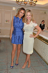 Left to right, ALEXANDRAMEYERS and MARISSA HERMER at a breakfast hosted by Halcyon Days at Fortnum & Mason, 181 Piccadilly, London on 8th July 2014.
