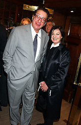 LORD & LADY SAATCHI at a party hosted by the Gussalli Beretta family to celebrate the opening of the new Beretta store, 36 St.James's Street, London SW1 on 10th January 2006.<br /><br />NON EXCLUSIVE - WORLD RIGHTS
