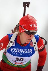 Julie Bonnevie-Svendsen (NOR) at Women 15 km Individual at E.ON Ruhrgas IBU World Cup Biathlon in Hochfilzen (replacement Pokljuka), on December 18, 2008, in Hochfilzen, Austria. (Photo by Vid Ponikvar / Sportida)
