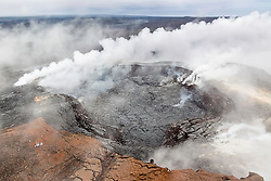 Kīlauea Caldera. Kīlauea Volcano is a shield volcano located on the eastern slope of Mauna Loa Volcano on the Island of Hawai'i. The volcano is considered to be in the shield-building stage of Hawaiian volcanism.