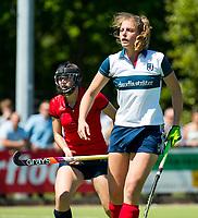 HUIZEN - Gitte Michels (Huizen) bij de eerste play off wedstrijd voor promotie naar de hoofdklasse , Huizen-Nijmegen (3-2) COPYRIGHT KOEN SUYK