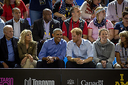 Barack Obama and Prince Harry watch wheelchair basketball at the Invictus Games in Toronto, ON, Canada, on Friday, September 29, 2017. Photo by Chris Donovan/CP/ABACAPRESS.COM