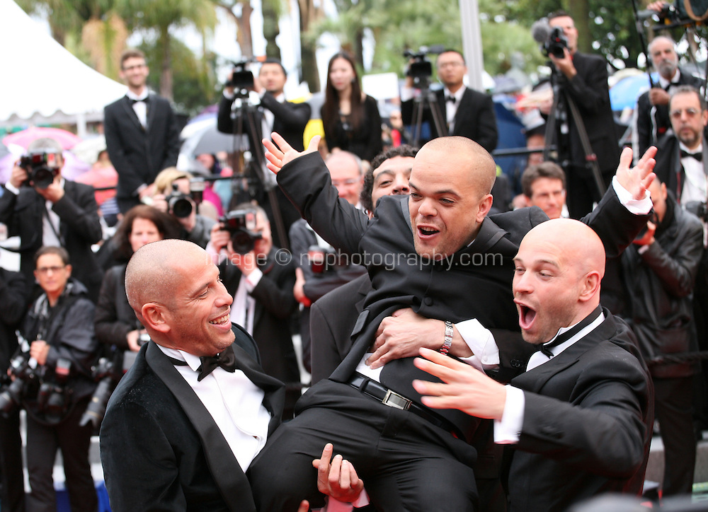Medi Sadoun, Ramzy Bediai, Franck Gastambide and Jib Pocthier cast of the film Les Kaira arriving at the Vous N'Avez Encore Rien Vu gala screening at the 65th Cannes Film Festival France. Monday 21st May 2012 in Cannes Film Festival, France.