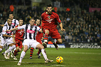 Photo: Rich Eaton.<br /> <br /> West Bromwich Albion v Cardiff City. Coca Cola Championship. 20/02/2007. Joe Ledley attacks for Cardiff