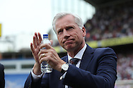 Alan Pardew, the Crystal Palace manager arriving at the dugout before k/o. Barclays Premier League match, Crystal Palace v Stoke City at Selhurst Park in London on Saturday 7th May 2016. pic by John Patrick Fletcher, Andrew Orchard sports photography.