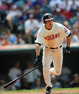 Grady Sizemore of Cleveland..The Minnesota Twins defeated the Cleveland Indians 4-2 on Sunday, July 27, 2008 at Progressive Field in Cleveland.