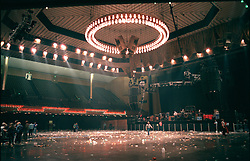 The Grateful Dead performing their New Years Concerts Run at the San Francisco Civic Auditorium, 29 December 1984 into 1 January 1985. This is Auditorium after the Show on Saturday the 29th. Shot on Color Negative Film, Kodak CM135-36.