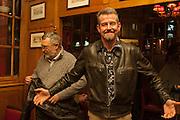 KEITH KING; ADAM MARS-JONES, The Omnivore hosts the third Hatchet  Job of the Year Award. Sponsored by the Fish Society.  The Coach and Horses. Greek st. Soho. London. 11 February 2014.