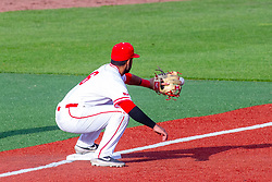 NORMAL, IL - May 01: Aidan Huggins during a college baseball game between the ISU Redbirds and the Indiana State Sycamores on May 01 2019 at Duffy Bass Field in Normal, IL. (Photo by Alan Look)