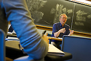 """Visiting Professor of Political Science Stephen White discusses the 1994 Russian election on Friday during his short course, """"Contemporary Russian Politics."""""""