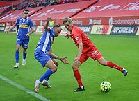 Fotball, 12. juli 2020, Eliteserien, Brann - Sandefjord - Thomas Grøgaard<br /> Erik Brenden