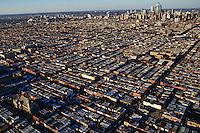 Aerial View, South Philadelphia & Skyline
