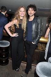 CHARLOTTE EKHOLT and ALEX ZANE at the Beulah AW13 Showcase, Bungalow 8 LFW Pop-Up at Belgraves - A Thompson Hotel, 20 Chesham Place, London SW1 on 13th February 2013.