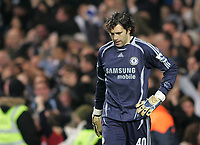 Photo: Lee Earle.<br /> Chelsea v Reading. The Barclays Premiership. 26/12/2006. Chelsea keeper Henrique Hilario looks dejected after their own goal.